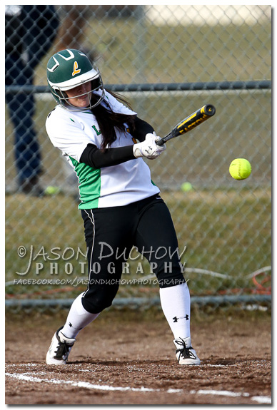 Photo by Rathdrum Photographer Jason Duchow of Erin Ogden at the Kellogg vs. Lakeland Varsity Softball game at Lakeland High School on March 25, 2013