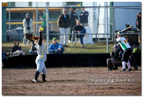 Photo by Rathdrum Photographer Jason Duchow of the Kellogg vs. Lakeland Varsity Softball game at Lakeland High School on March 25, 2013