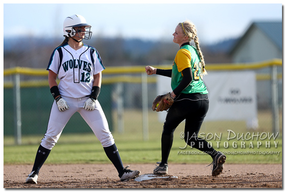 Photo by Coeur d'Alene Photographer Jason Duchow of the Lakeland vs. Lake City Varsity Softball game at Lake City High Schooll on March 27, 2013