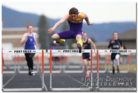 Photo by Post Falls Photographer Jason Duchow of the Christina Finney Track Meet at Post Falls High School on March 28, 2013