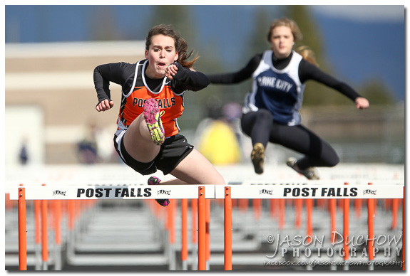 Post Falls High School Hurdler