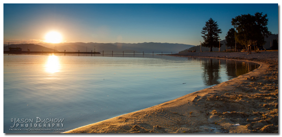 sunrise Sandpoint city beach