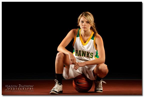Basketball themed senior portrait