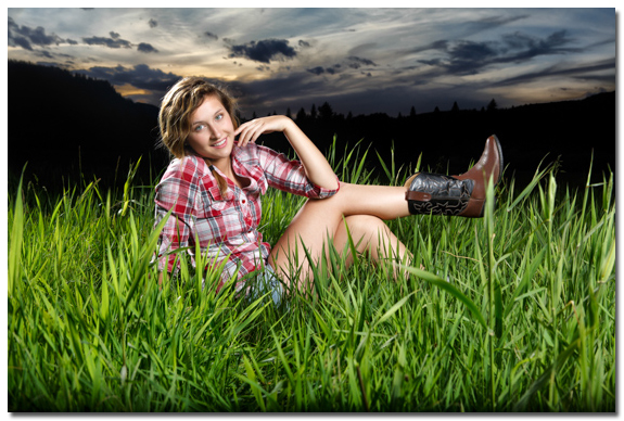 senior portrait near priest river