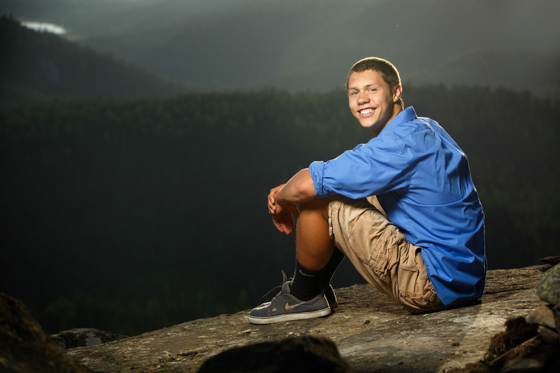 Senior photos of Jeremiah from the Sandpoint High School class of 2014 taken near Sandpoint Idaho