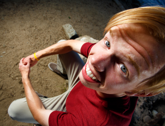 Intentionally goofy portraits called Bobble Head Portraits taken by Jason Duchow with a wide angle lens on a full frame camera.
