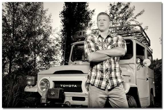 Portrait with Toyota Land Cruiser