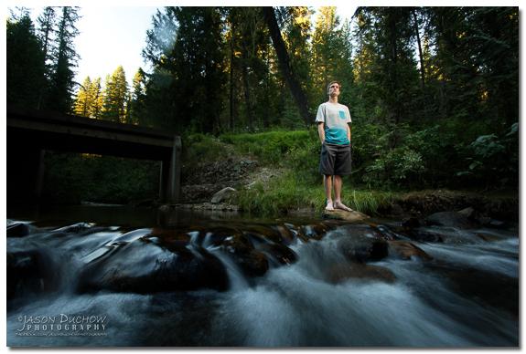 Motion Blurred Water Portrait