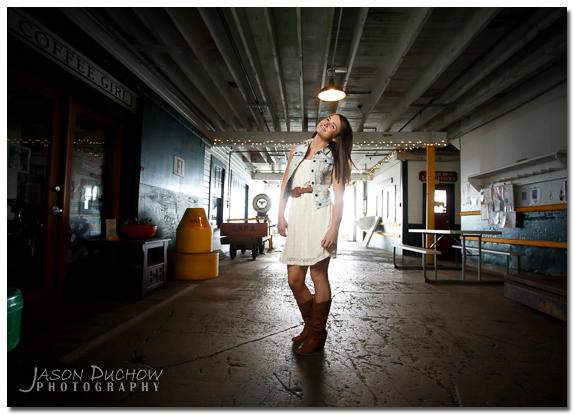 Destination senior Portrait taken in Astoria Orego