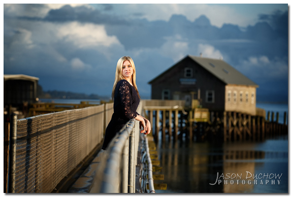 portrait on an ocean pier