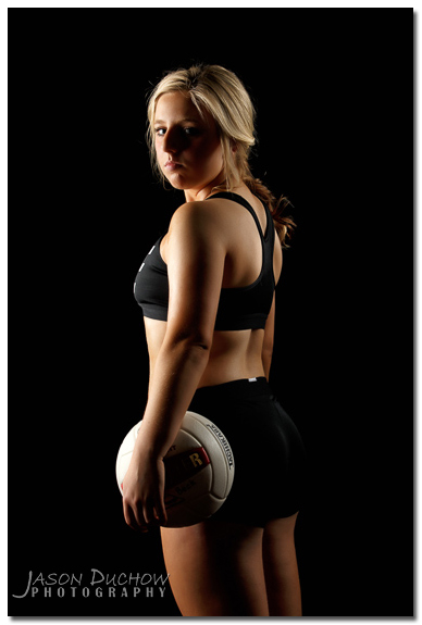 Volleyball studio portrait with Jason Duchow Photography