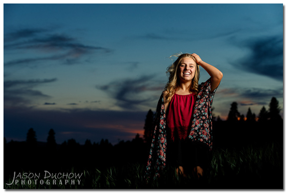 sunset senior portait