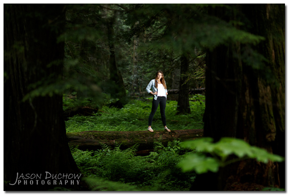 Portrait taken at Ross Creek Cedars
