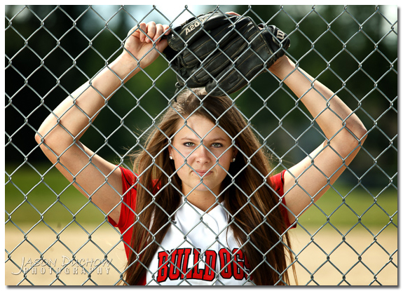 Softball senior portrait