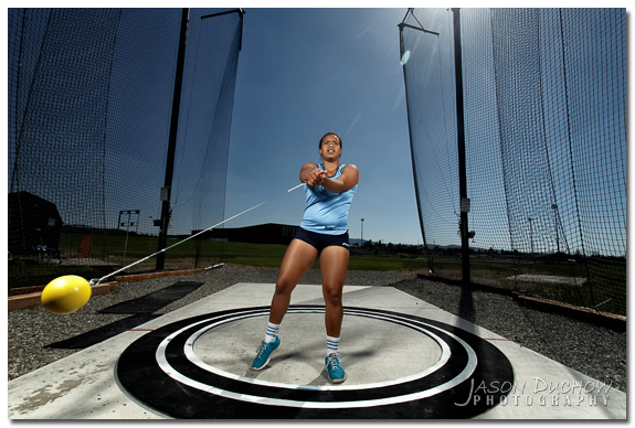 Hammer Thrower action portrait